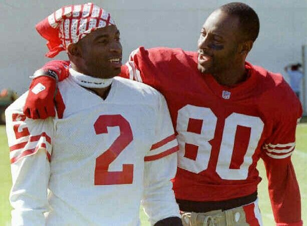 competitive price 1b193 c3c70 Deion Sanders and Jerry Rice | Deion Sanders - San Francisco ...