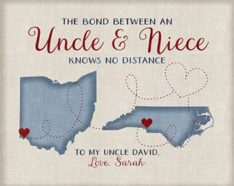 Gift For Uncle From Niece Or Nephew Long Distance Family Maps Christmas Gifts Uncles Aunts Godmother Godfather