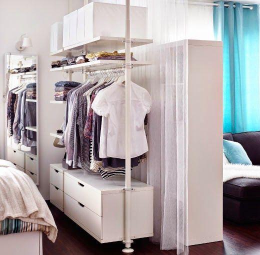 Decotips c mo dividir ambientes en un dormitorio abierto - Como hacer un closet en una habitacion ...