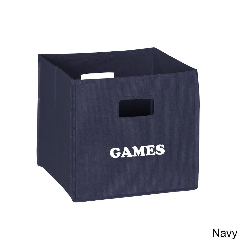 Delicieux RiverRidge Kidsu0027 Folding Storage Bins With U0027Gamesu0027 Print (Navy Folding Storage  Bin