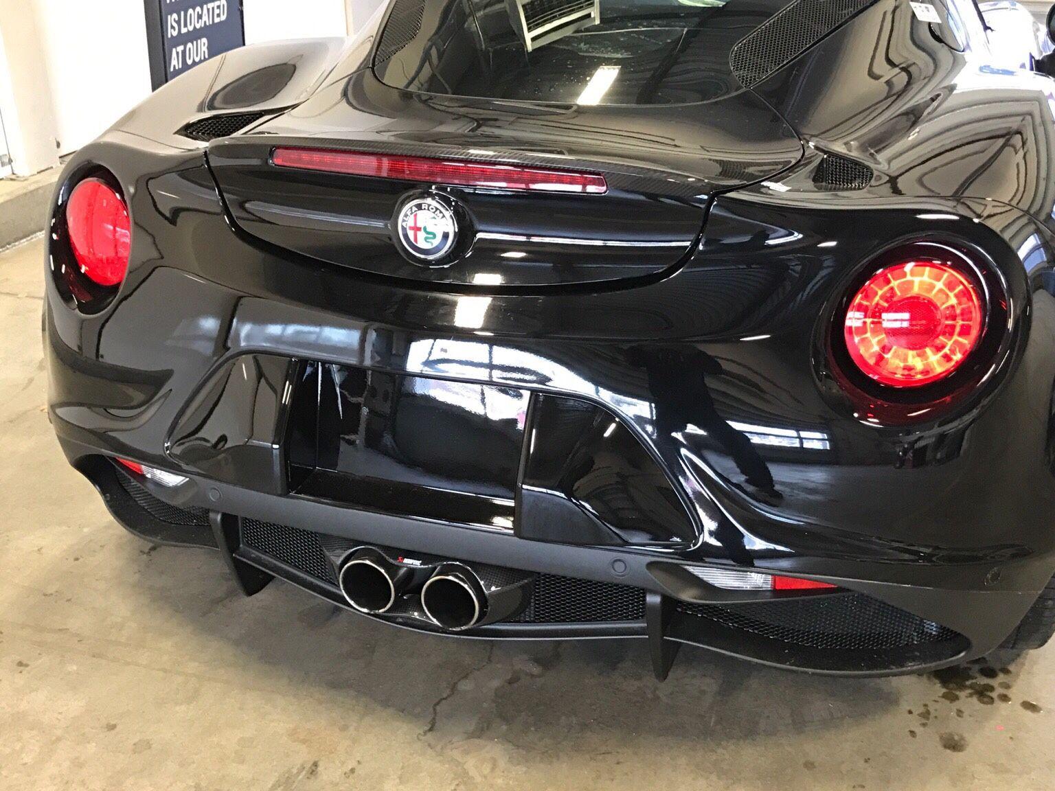 Akrapovic Cf Exhaust Tip Shroud With Centerline Stradale Corsa Alfa Romeo Transaxle 4c Forums