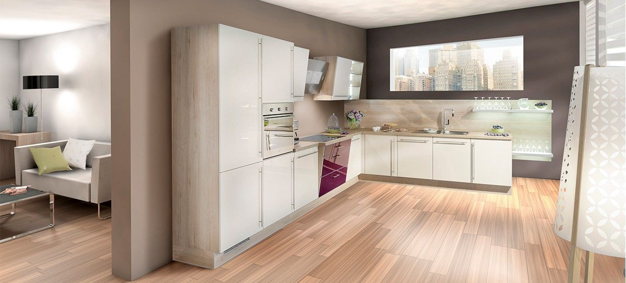 Une cuisine unique avec ses meubles tout en hauteur et ses for Hauteur meuble cuisine