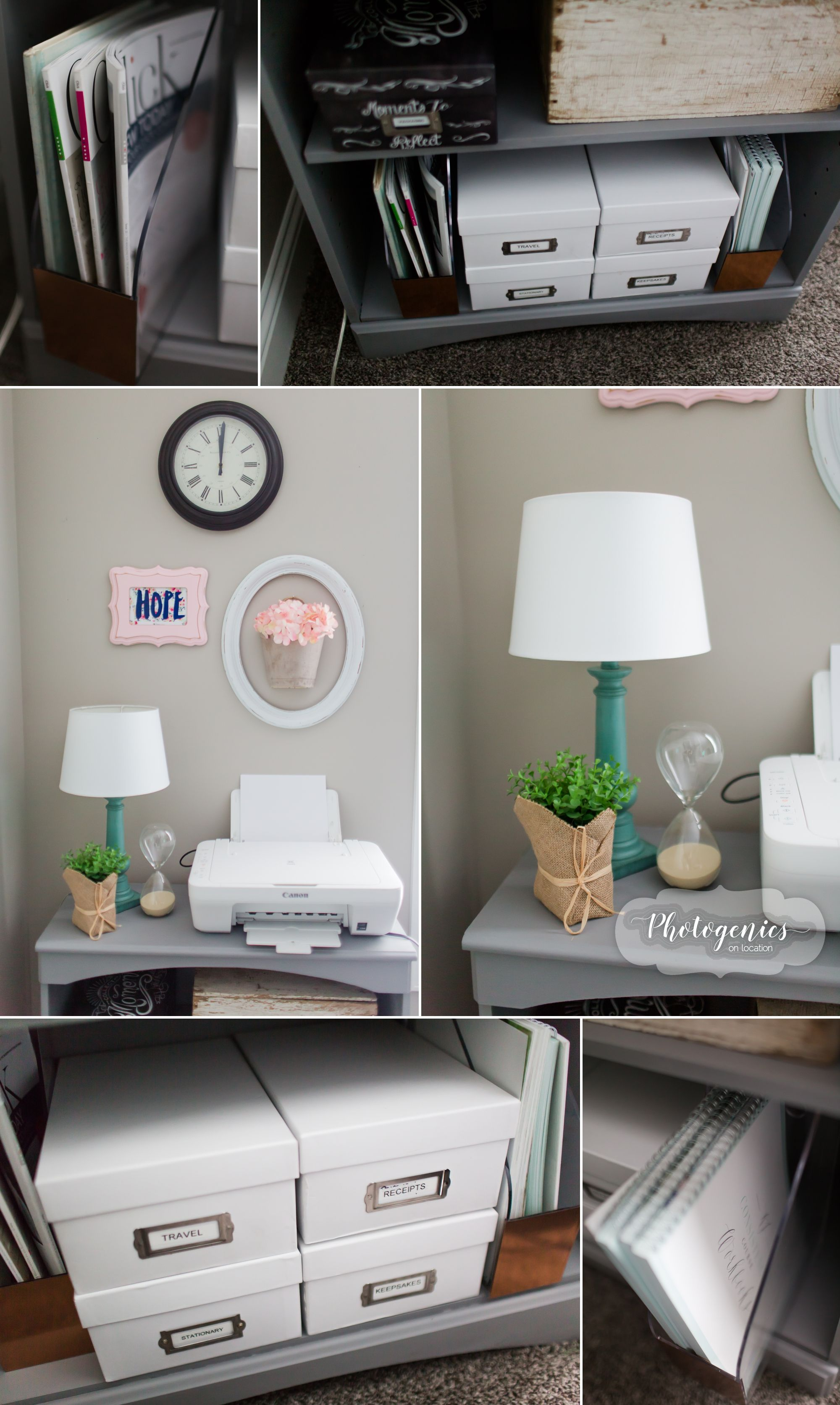 A Home Office Tour organized home office