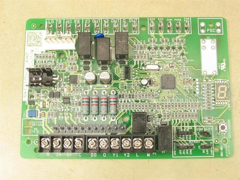lennox 103369 04 a c heat pump control circuit board 1184 501 ebay rh pinterest com