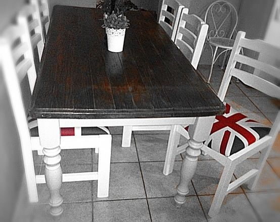 Our Shabby Chic Dining Table And Union Jack Chairs Still