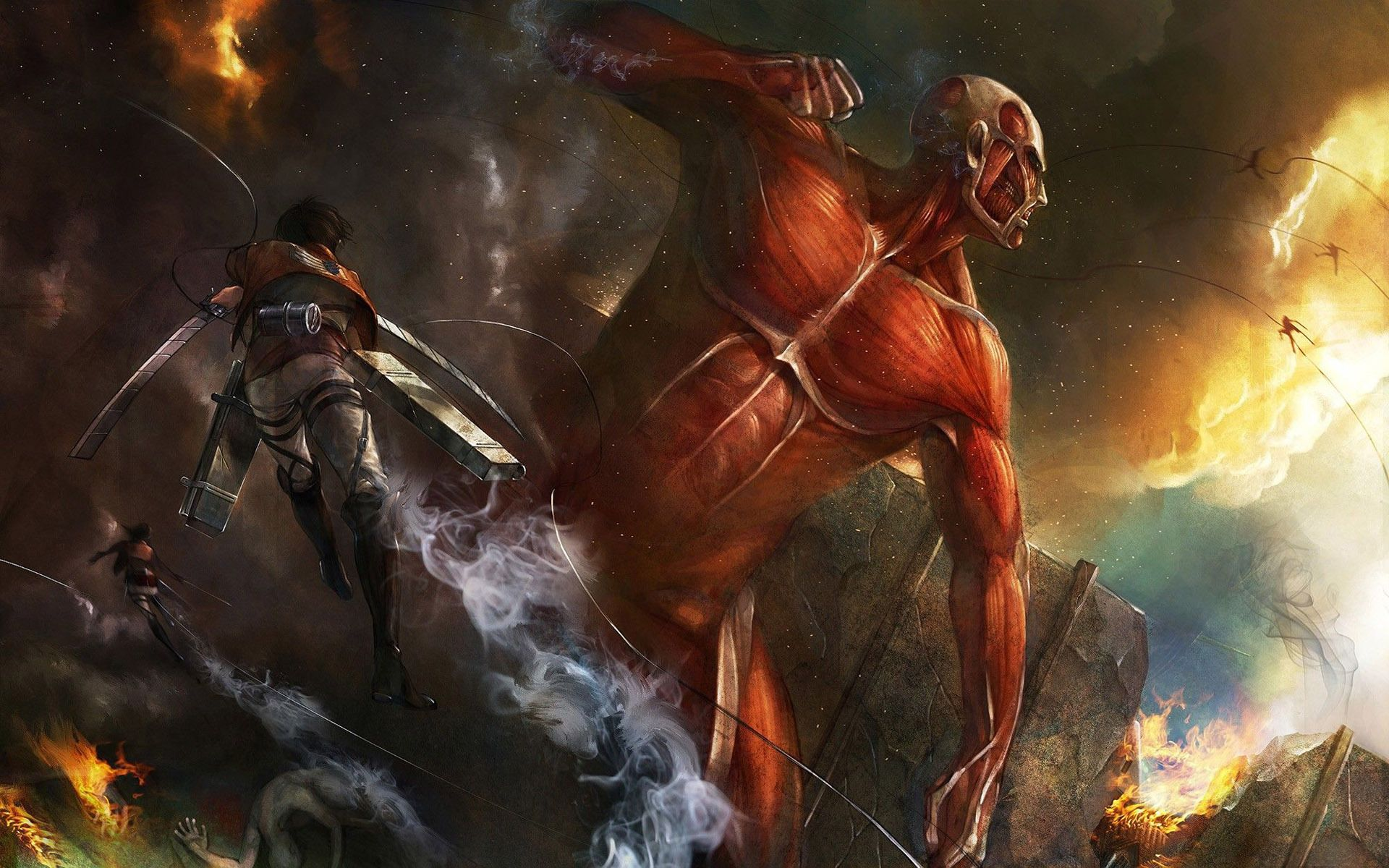 attack on titan wallpaper Google Search Attack on