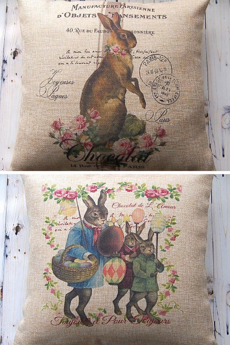 Farmhouse Pillow Easter Decor Decorative