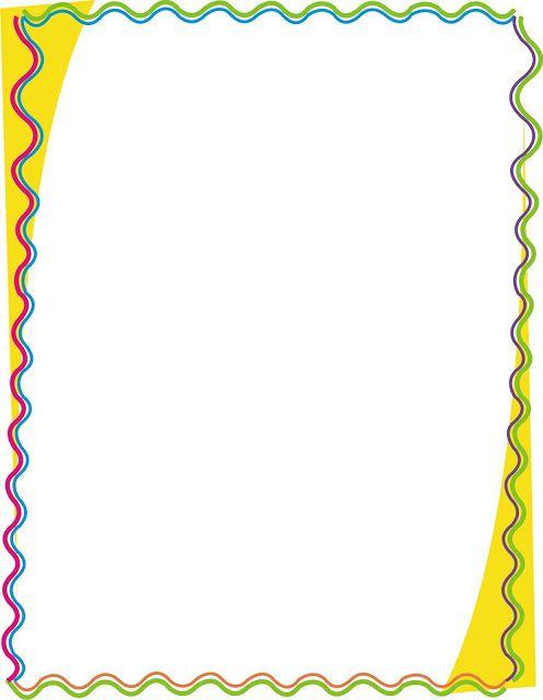 Borders for kid dise o grafico lindas caratulas para word for Bordes creativos