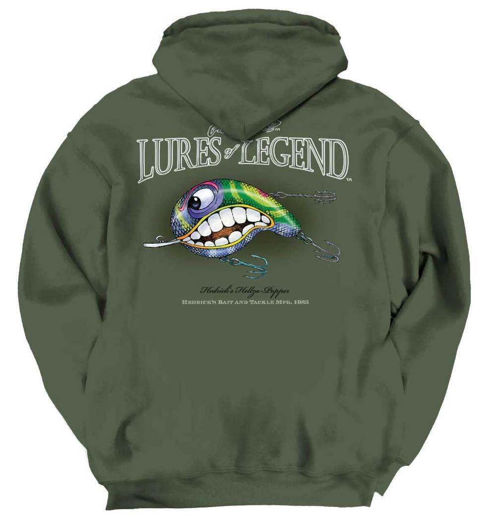 Bass Boat Hooded Fishing Sweatshirt