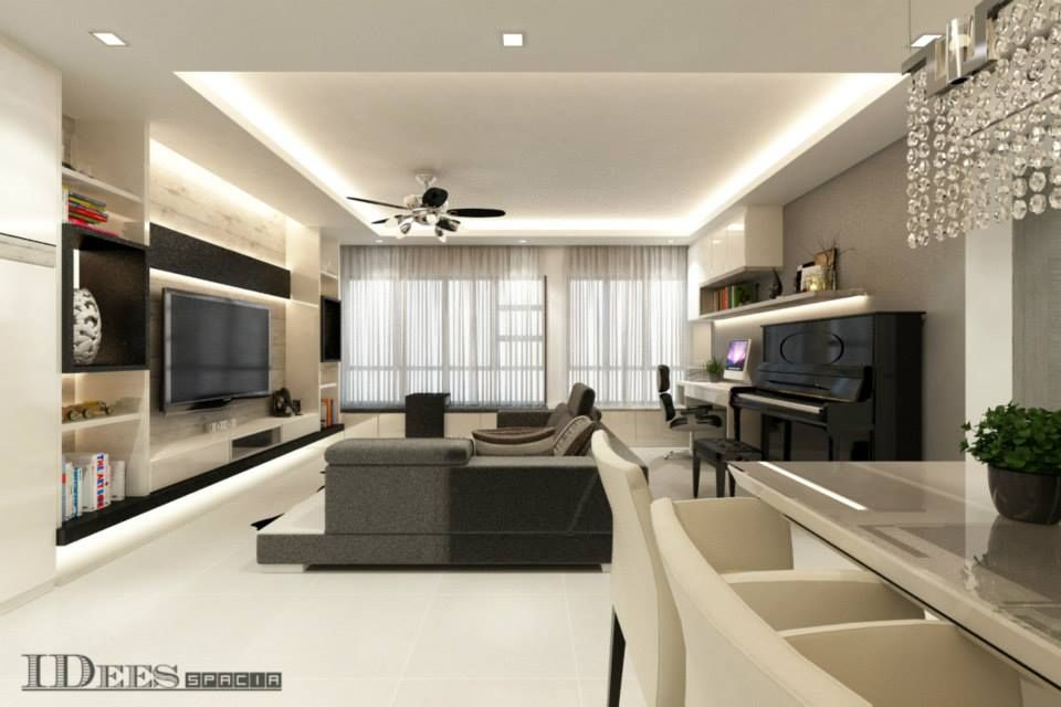 living room track lighting%0A Living room with piano