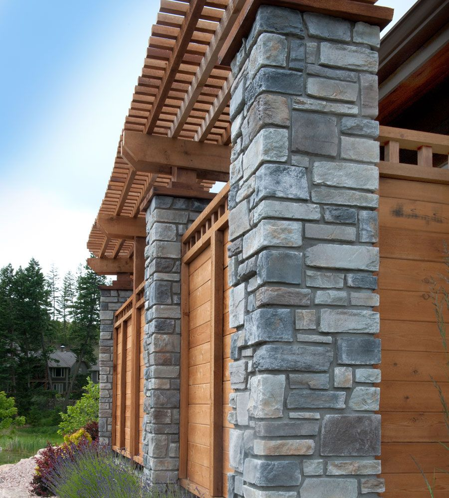 Cultured Stone Pillars : Columns echo ridge country ledgestone cultured stone