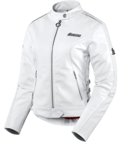 Hella Leather Jacket – White | Products | Ride Icon Sleek, sexy, simplistic chic…