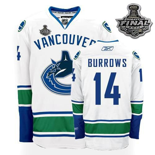 vancouver canucks alexandre burrows 14 white authentic jersey sale
