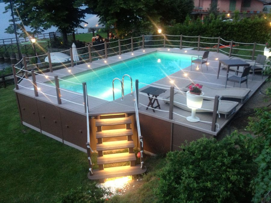 Piscina fuori terra architettura swimming pools backyard backyard pool designs e swimming - Piccole piscine in casa ...