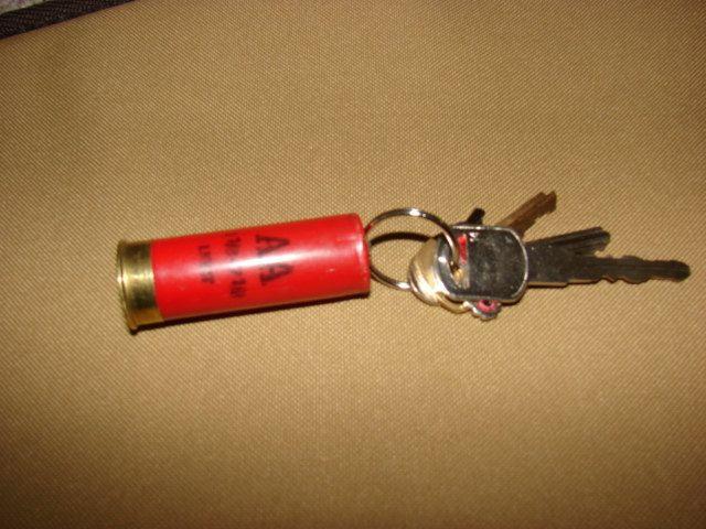 Shotgun Shell Keychain Bullet Key Chain Real 12 Gauge. $4.00, via Etsy.