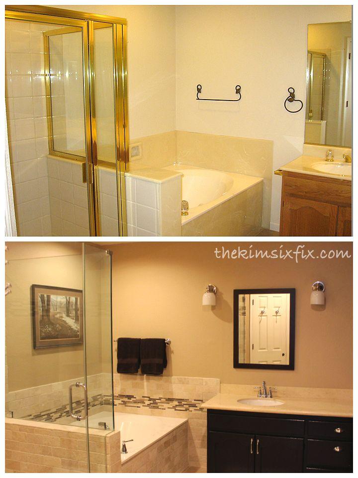 A DIY took her old bathroom so