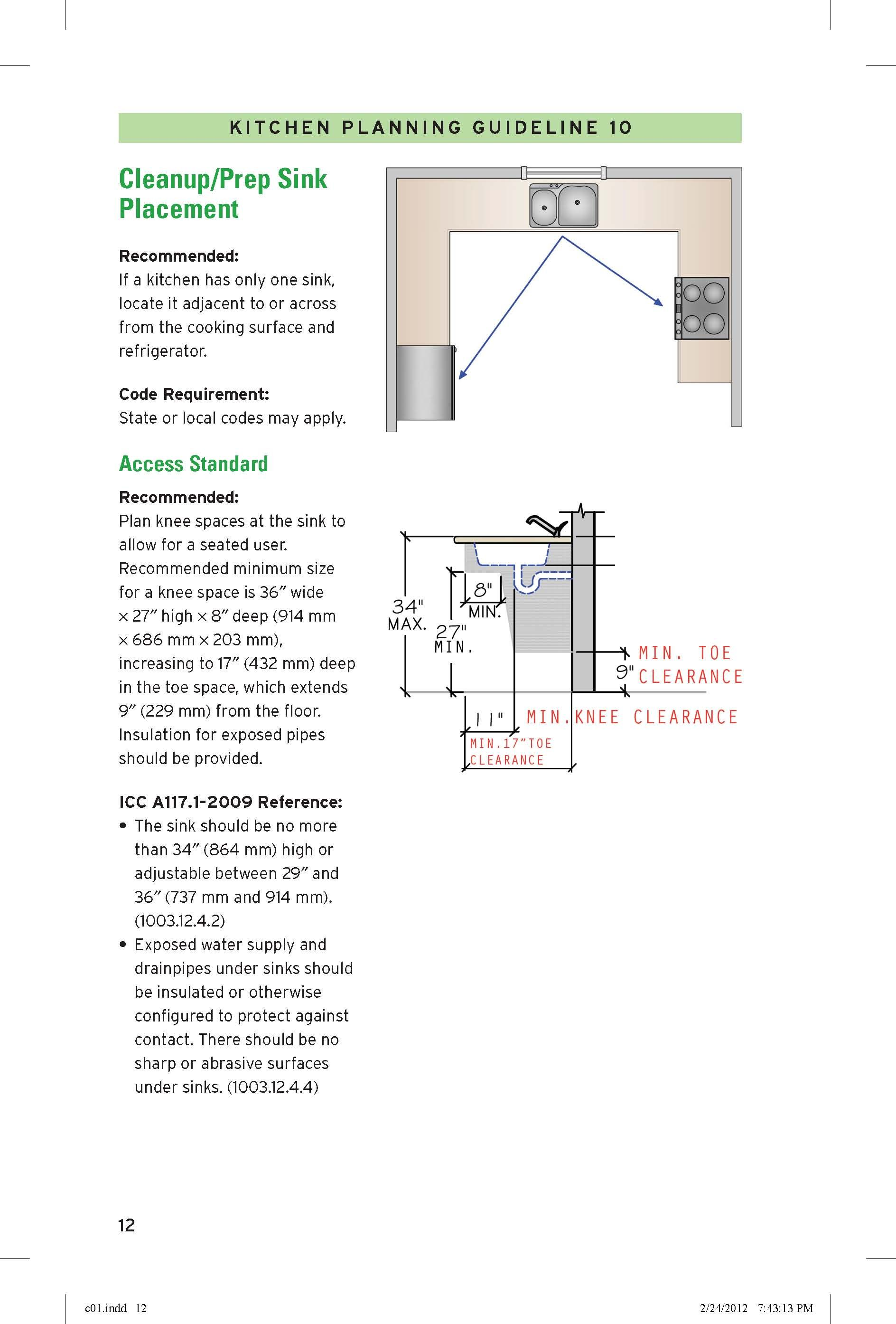 Cleanup Prep Sink Placement Prep Sink Kitchen Plans Guidelines