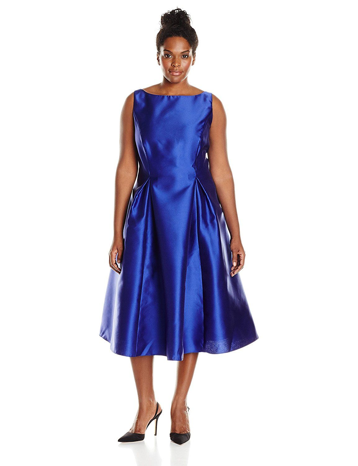 04f1fae32a5f Adrianna Papell Women's Plus-Size Sleeveless Tea-Length Dress ** Remarkable  product available now. : Women clothing
