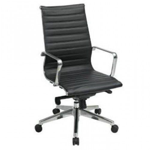 OSP Furniture 74603LT High Back Black Eco Leather Chair