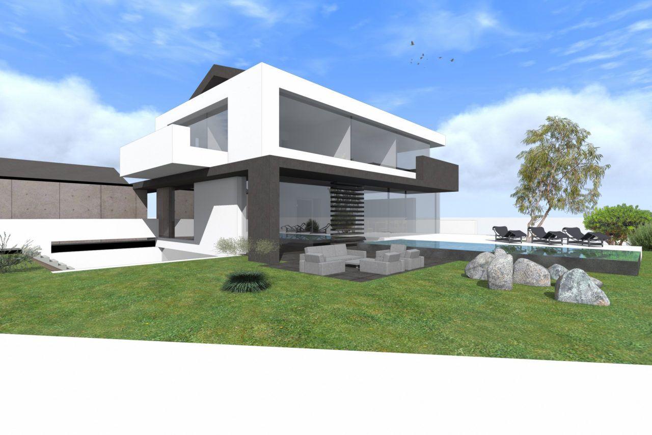 Satteldach modern ohne dach berstand interpetiert for Moderne architektur satteldach