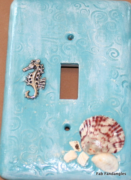 Beach Inspired Swirls Of The Seahorse Teal White Washed Polymer