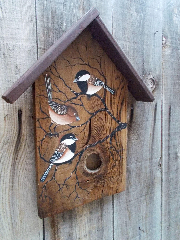 Birdhouse Wall Hanging Door Hanger Rustic Wood Birdhouse Etsy Wood Birdhouses Rustic Wall Decor Rustic Wood