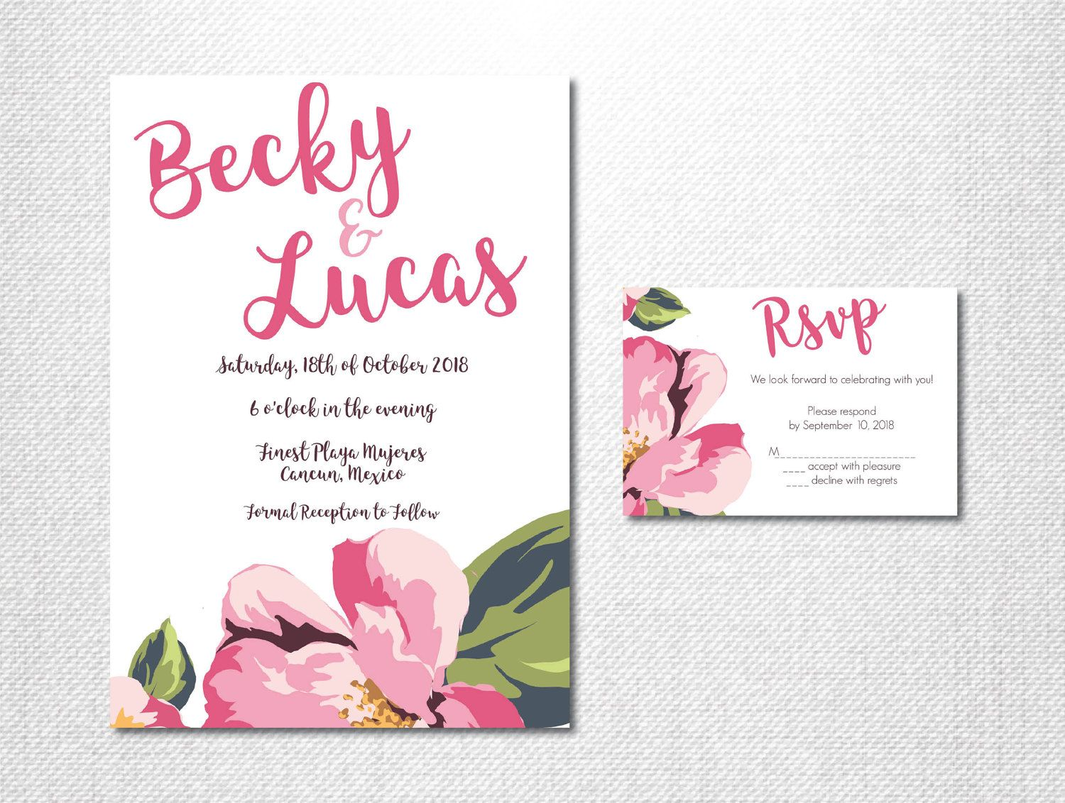 beach wedding invitation examples%0A Tropical Wedding Invitation   Destination Invite   Beach Invitation    Summer Wedding Invite   Spring Wedding