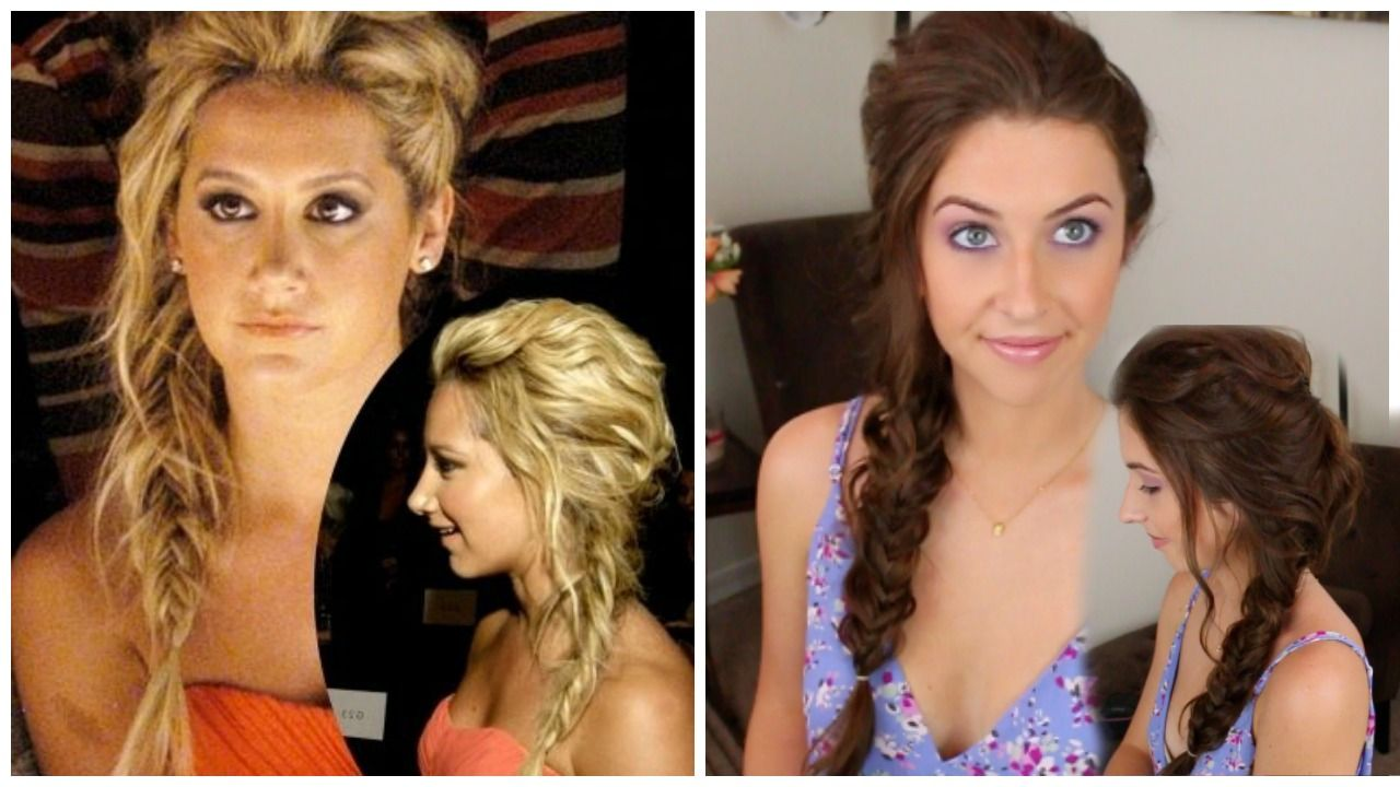 Very easy tutorial! Just click for the video. Love the boho fishtail braid.
