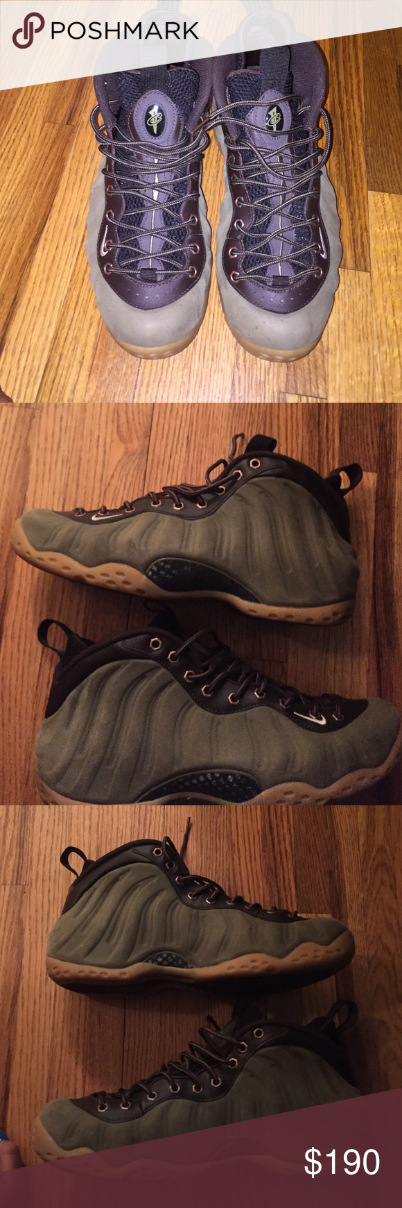 Air Foamposites Condition is 10/10. No flaws. Great for fall. Nike Shoes Sneakers