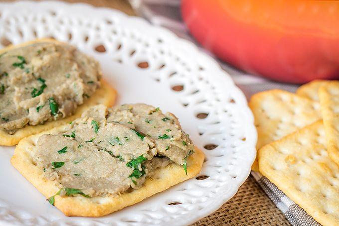 Paté de champiñones con cilantro y lima