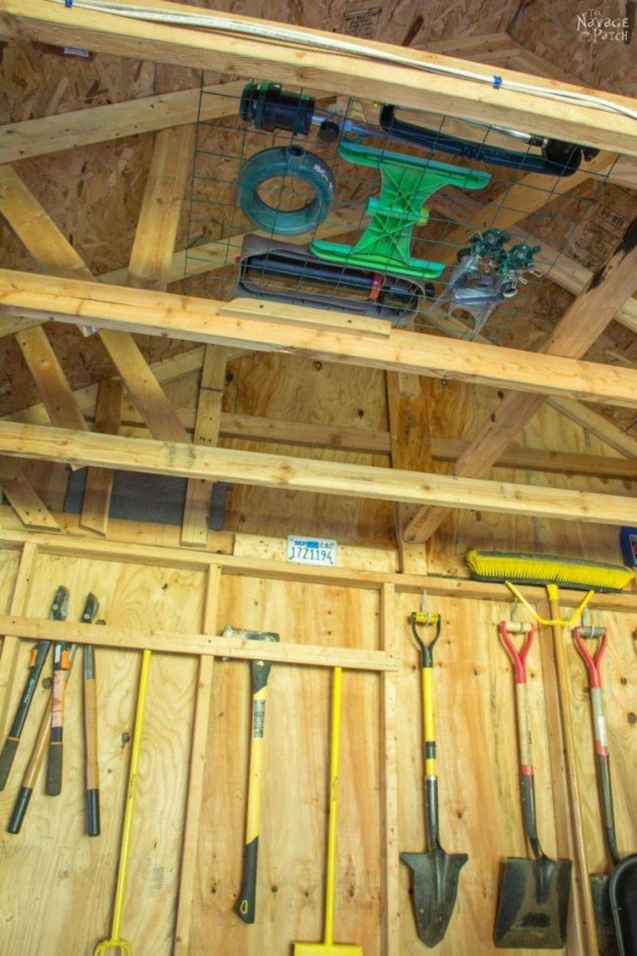 24 creative garden tool storage ideas storage shed