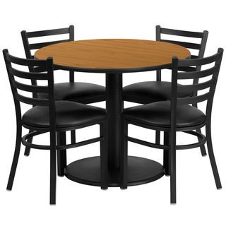 shop for 36 inch round natural laminate table set get free delivery rh pinterest com