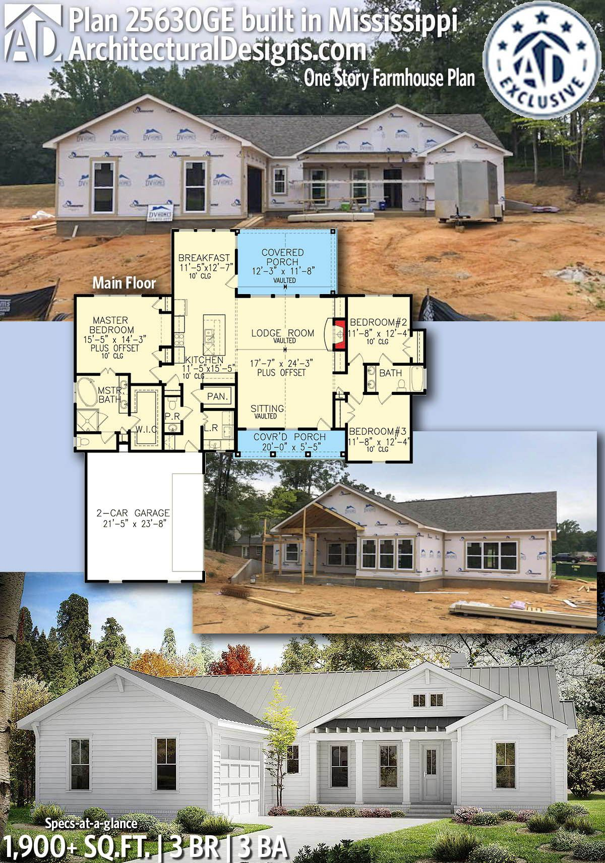 plan 25630ge one story farmhouse plan in 2019 small home plans rh pinterest com