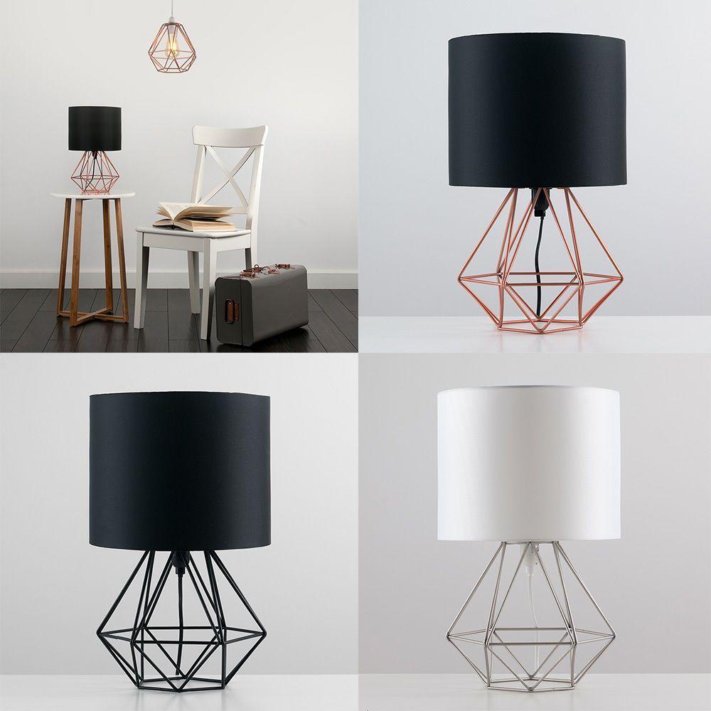 Decorative Retro Geometric Table Lamp with Drum
