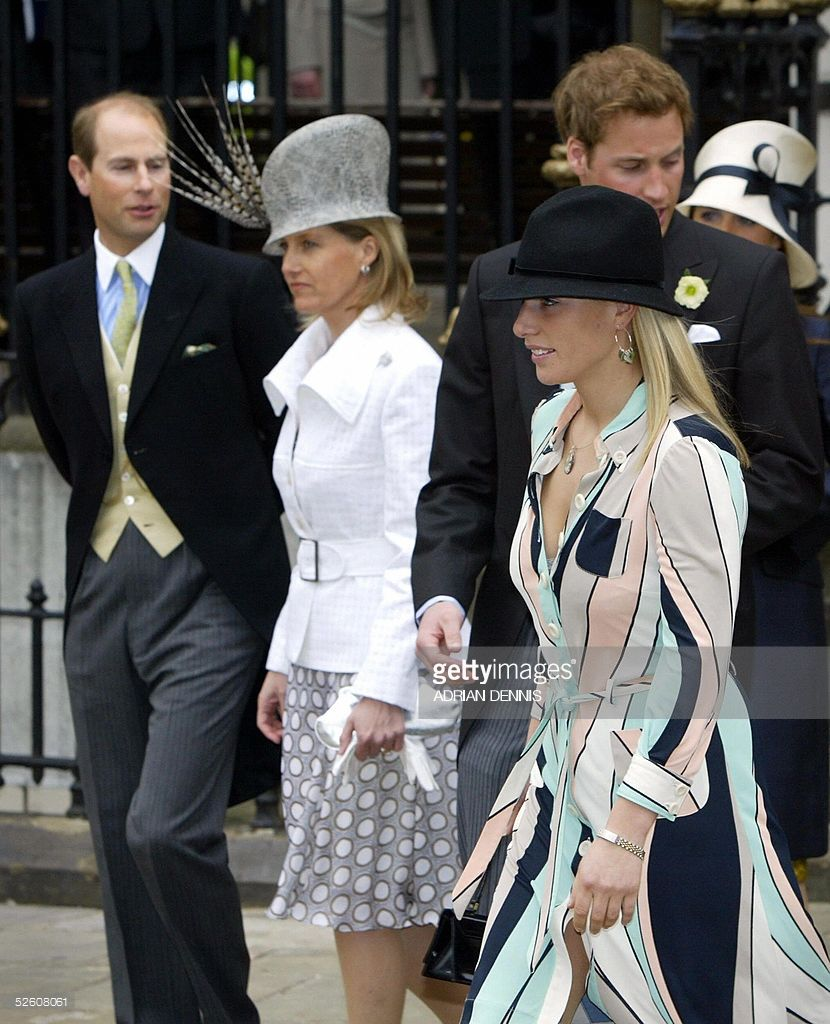 Members of the Royal Family, Prince Andrew (L) and wife