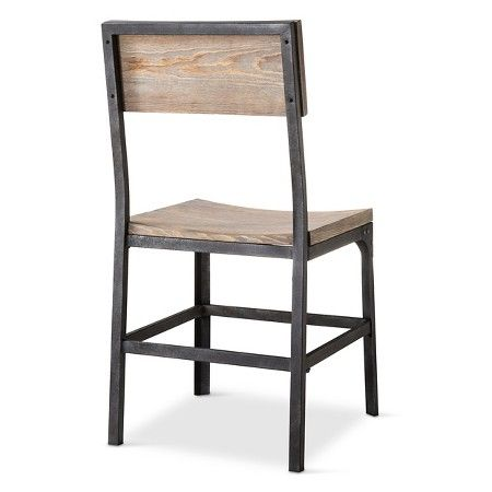 franklin wood seat dining chair metal gray set of 2 the rh pinterest com