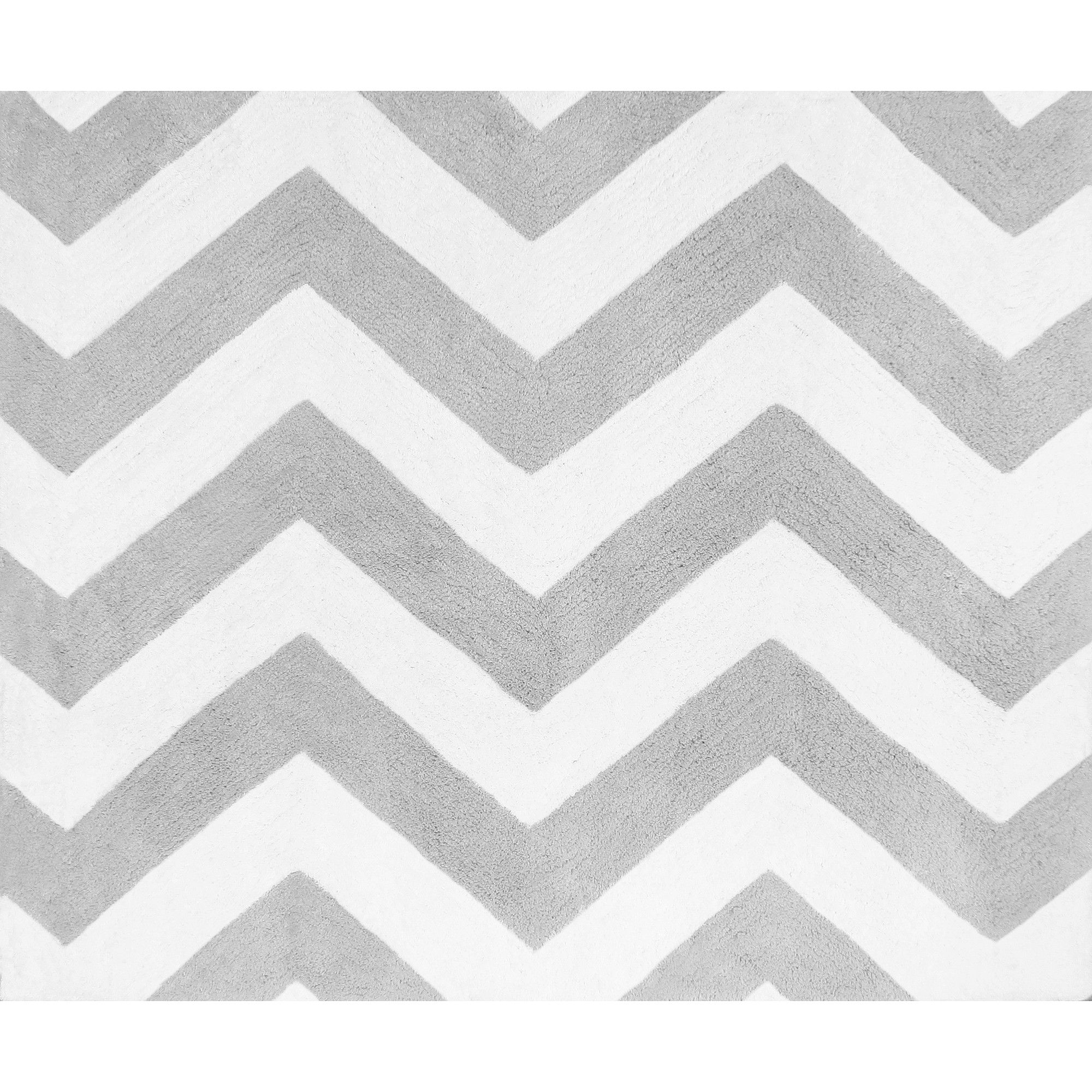 Sweet Jojo Designs Gray White Chevron Zigzag Floor Rug Rugs Grey