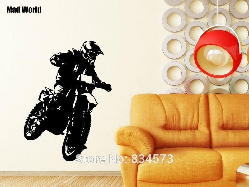 Motocross Motorcycle Moto Dirty Bike Wall Art Sticker Decal Home DIY