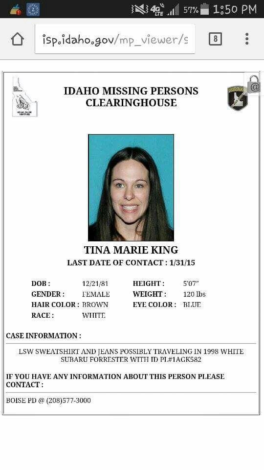 Tina Marie King  Idaho missing | Can you help? | Idaho