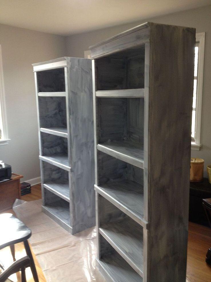 painting laminate bookshelves dark to bright in 2019 repurposed rh pinterest com