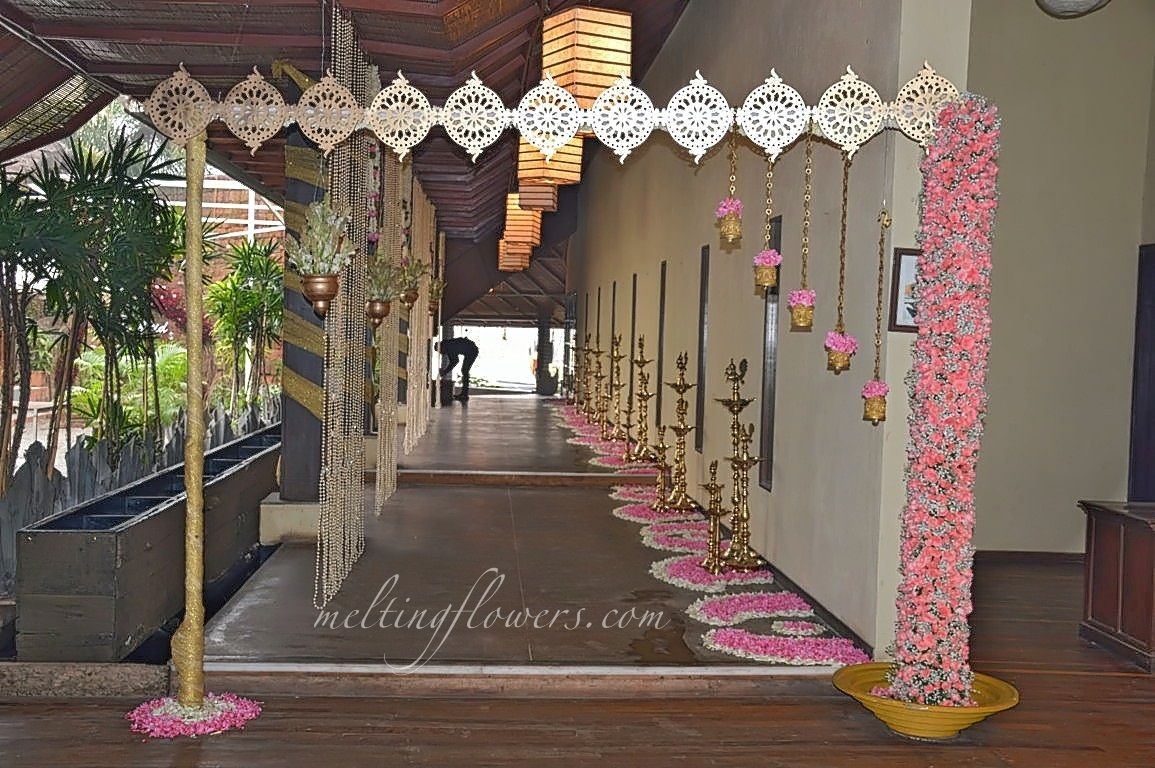 wedding stage decoration pics%0A Wedding Entrance Decoration At Temple Tree Leisure Bangalore   weddingEntrance  weddingDecorations  FlowerDecorations  weddingTips