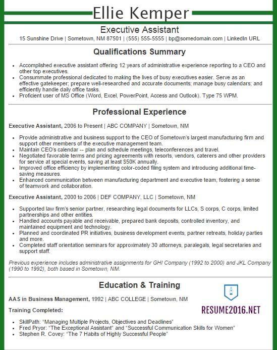Sample Resume For Administrative Assistant Skills 347062 Career