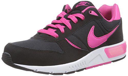 Nike Nightgazer (GS)- Chaussures de Running Fille, Noir (Black/Pink Blast-White), 37.5 EU