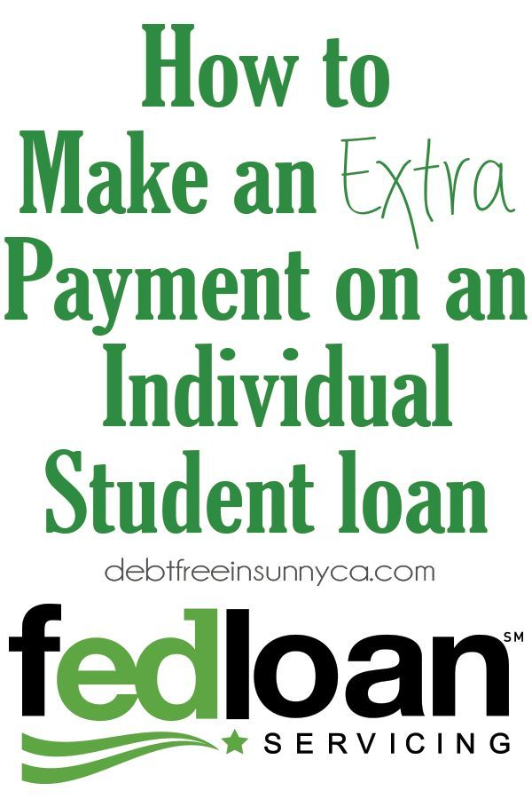 FedLoan: How to Make an Extra Payment on an Individual Student loan - Student loans, Student ...
