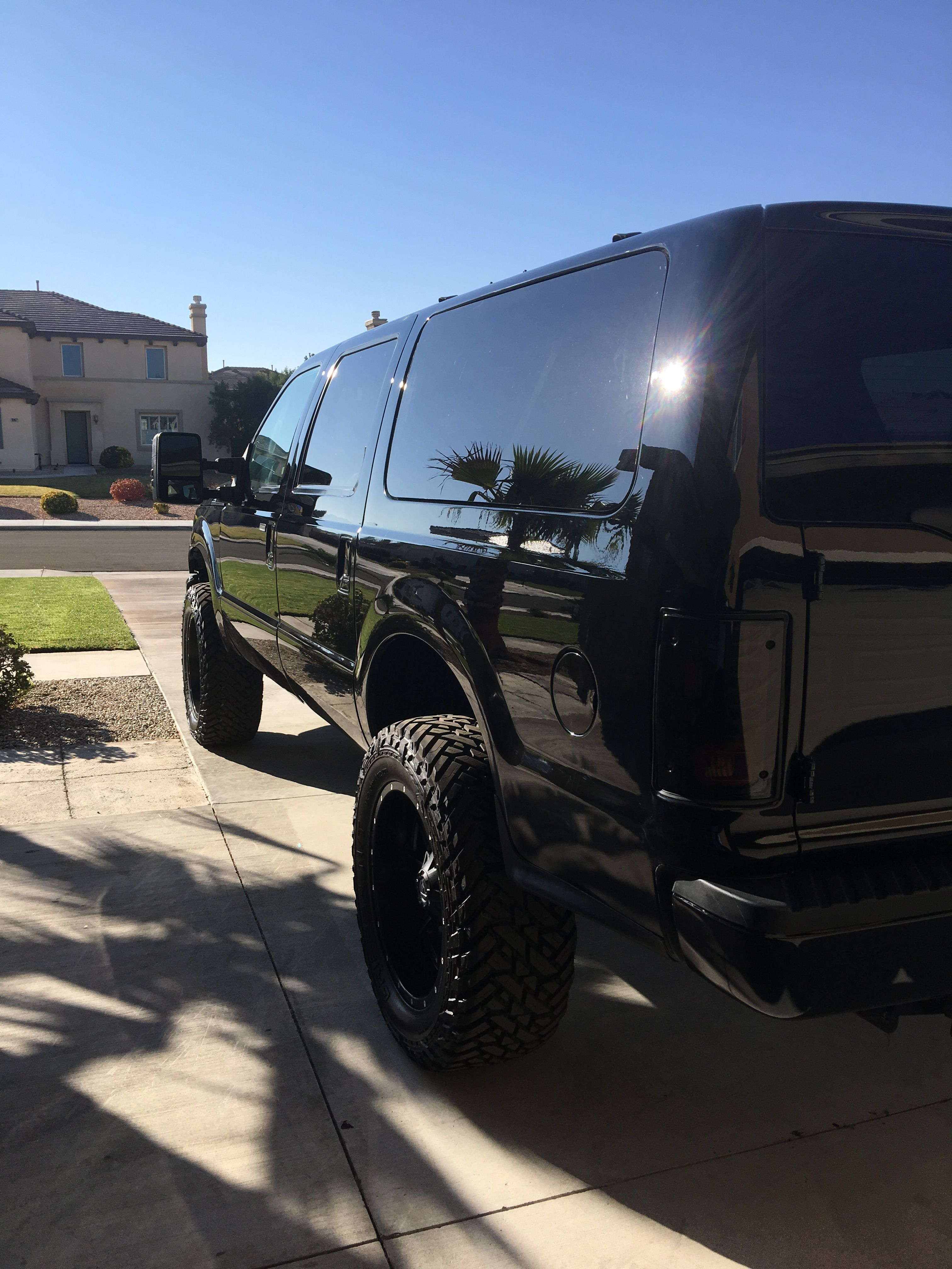 Blacked Out X Ford Excursion Ford Excursion Diesel Ford