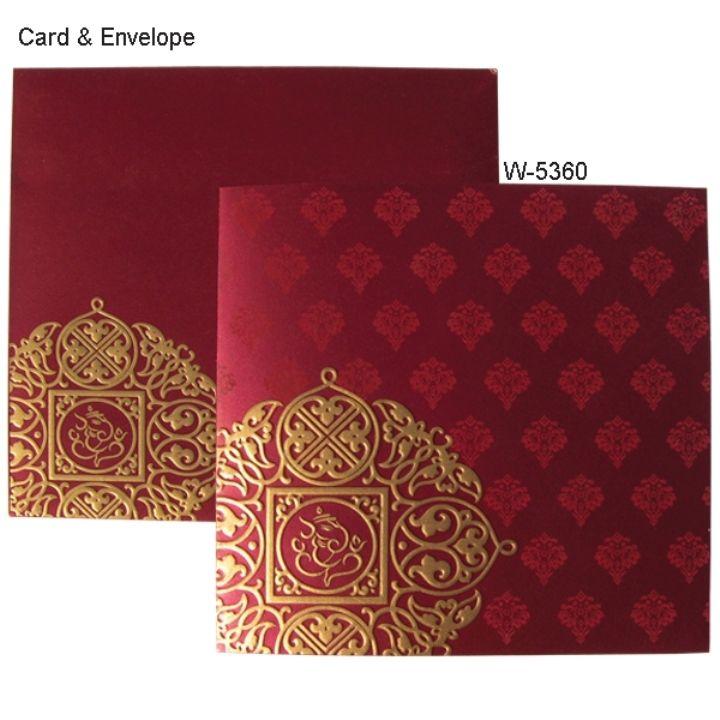 wedding invitation wording for hindu marriage%0A Gold and Maroon Wedding Invitations