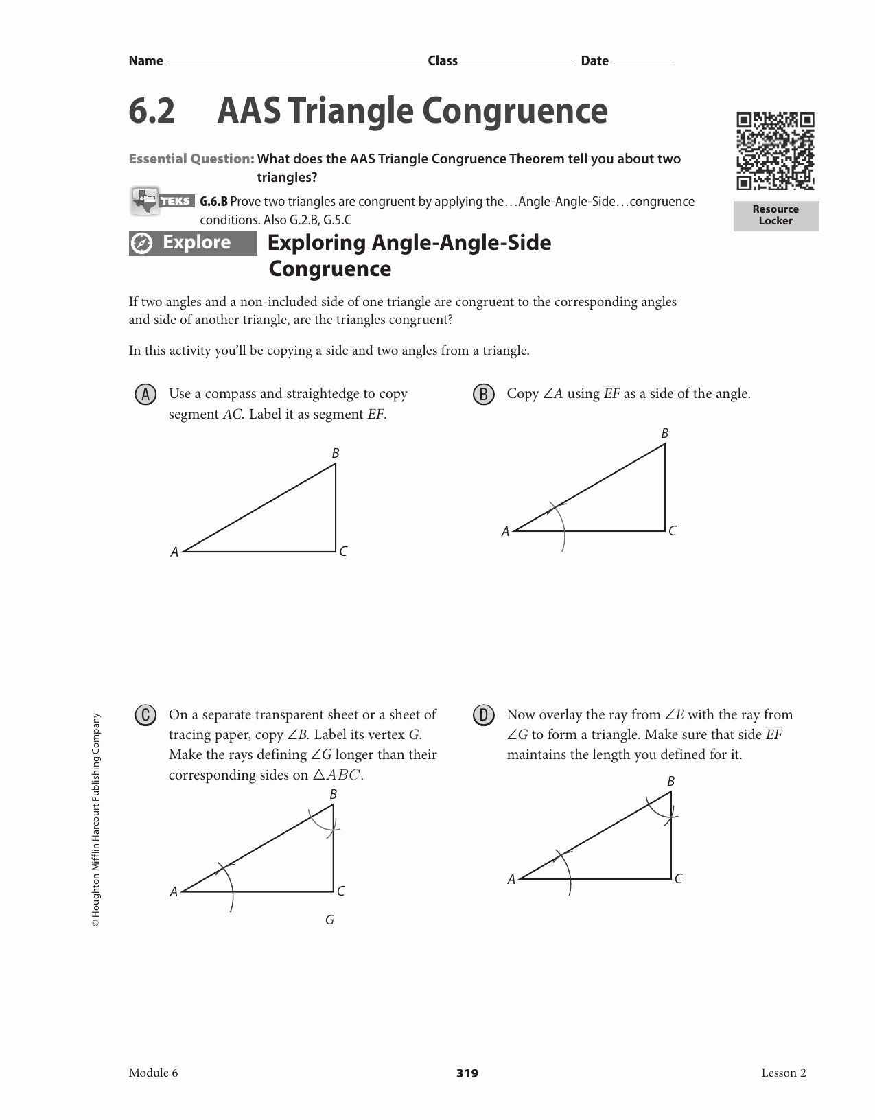Triangle Congruence Worksheet Answer Key Beautiful