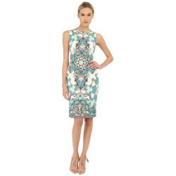 0a20bb8f Versace Collection - Light Blue All Over Patterened Dress (Multi ...