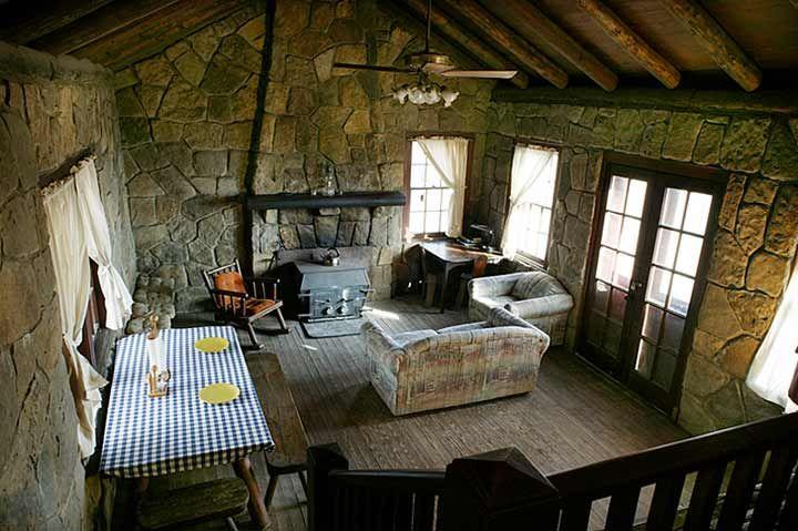 White Rock Mountain, Arkansas. Rustic Cabin.