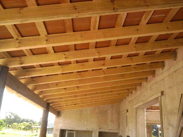 terrazas con losas y vigas de madera buscar con google
